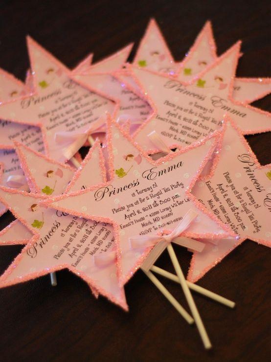 Tea Party Invitations Princess Birthday Diy Invitation Cards