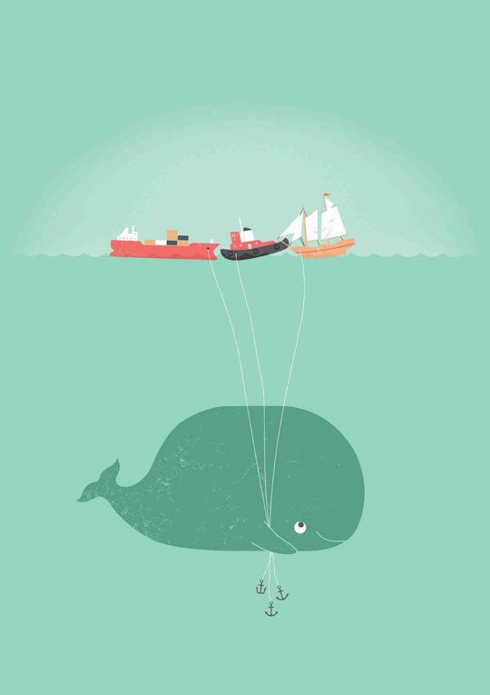 Whale's Balloons! I want this as a t-shirt!