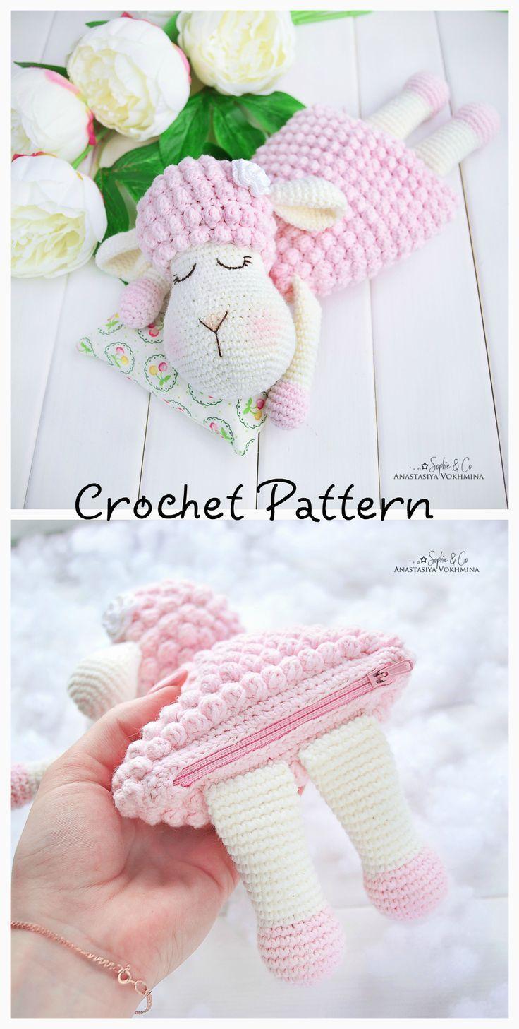 PATTERN Sheep warming pillow #crochetpatterns
