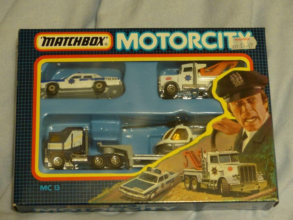 Matchbox Police car set Matchbox cars, Police cars, Old toys