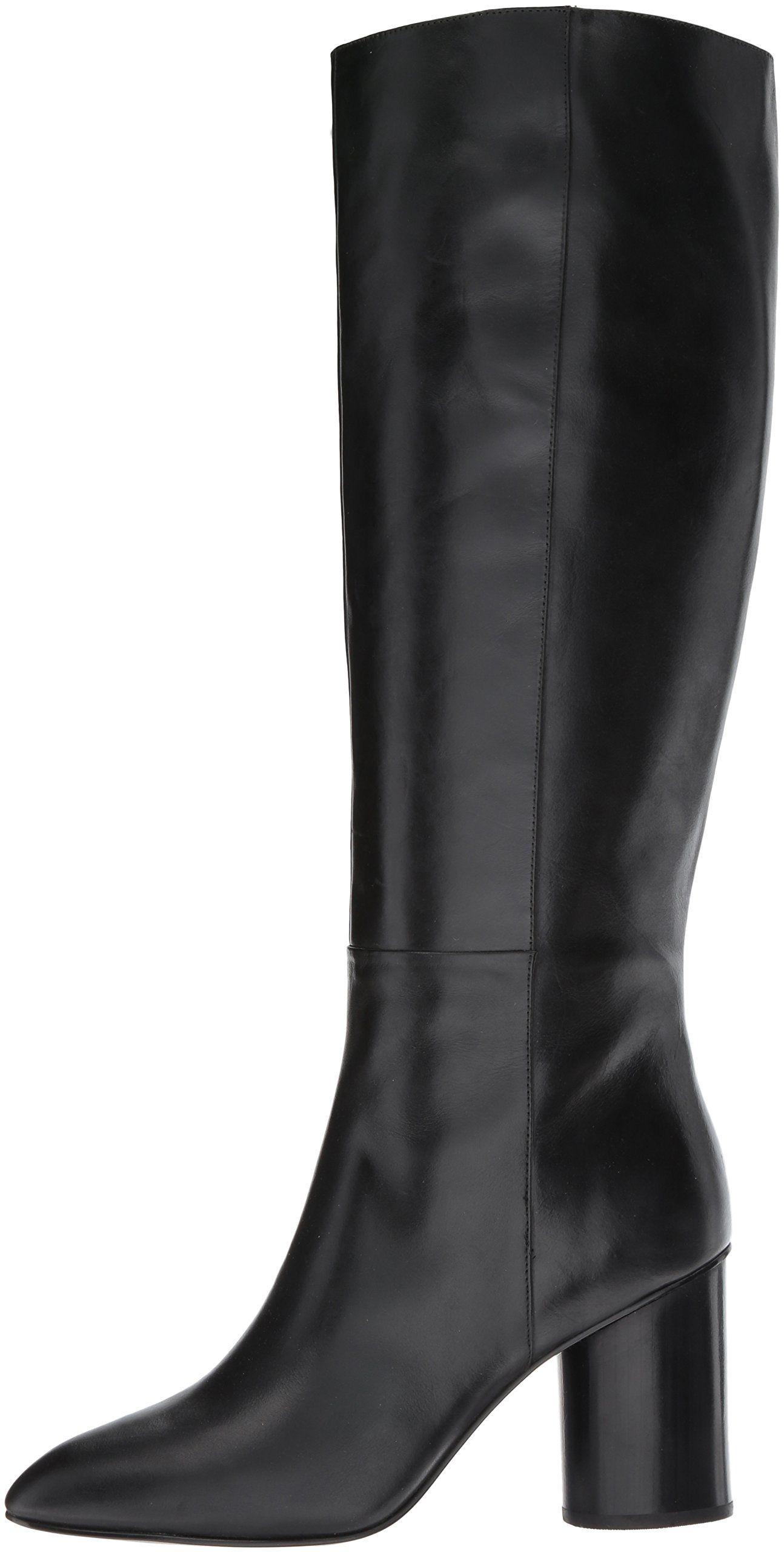 669d7422b0c Nine West Womens Christie Knee High Boot Black Leather 8 Medium US ...