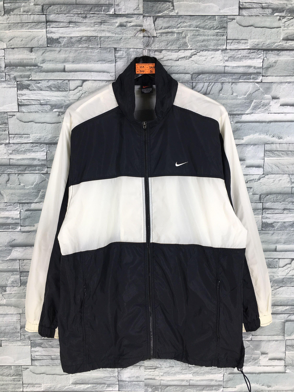 Vintage 90 S Nike Windbreaker Jacket Medium Nike Swoosh Etsy Nike Windbreaker Jacket Nike Jacket Nike Windbreaker