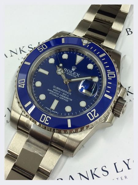 Rolex Gent's 18ct White Gold Submariner Date Watch