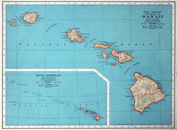 Vintage map of hawaii 1937 vintage map of hawaii gumiabroncs Gallery