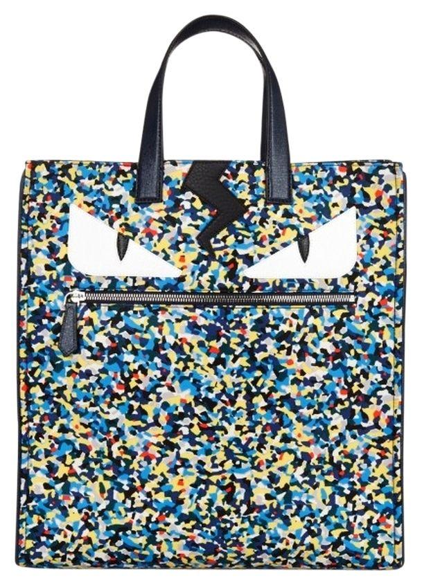 a0c7f69783d8 Fendi Monster Eyes Confetti-print Nylon Unisex Multi-color Tote Bag ...