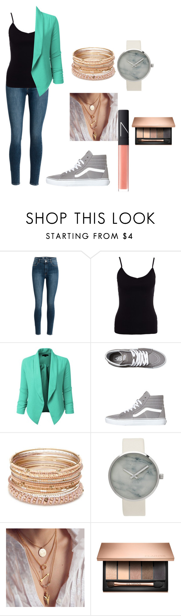 """TEAS STYLE"" by olivia-weissman on Polyvore featuring New Look, LE3NO, Vans, Red Camel and NARS Cosmetics"