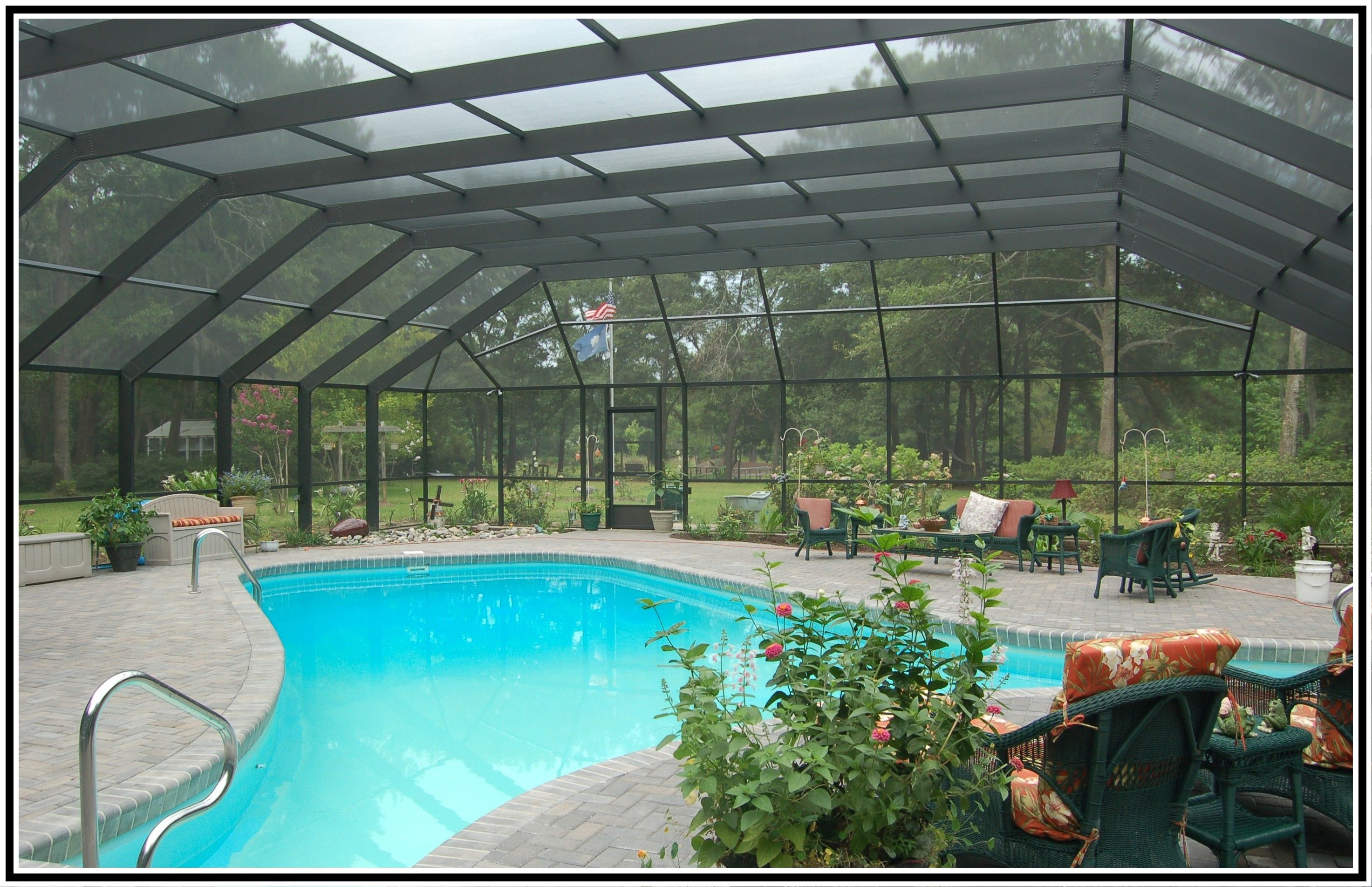 Pool enclosure designs pool enclosures and screen rooms for Swimming pool enclosures cost