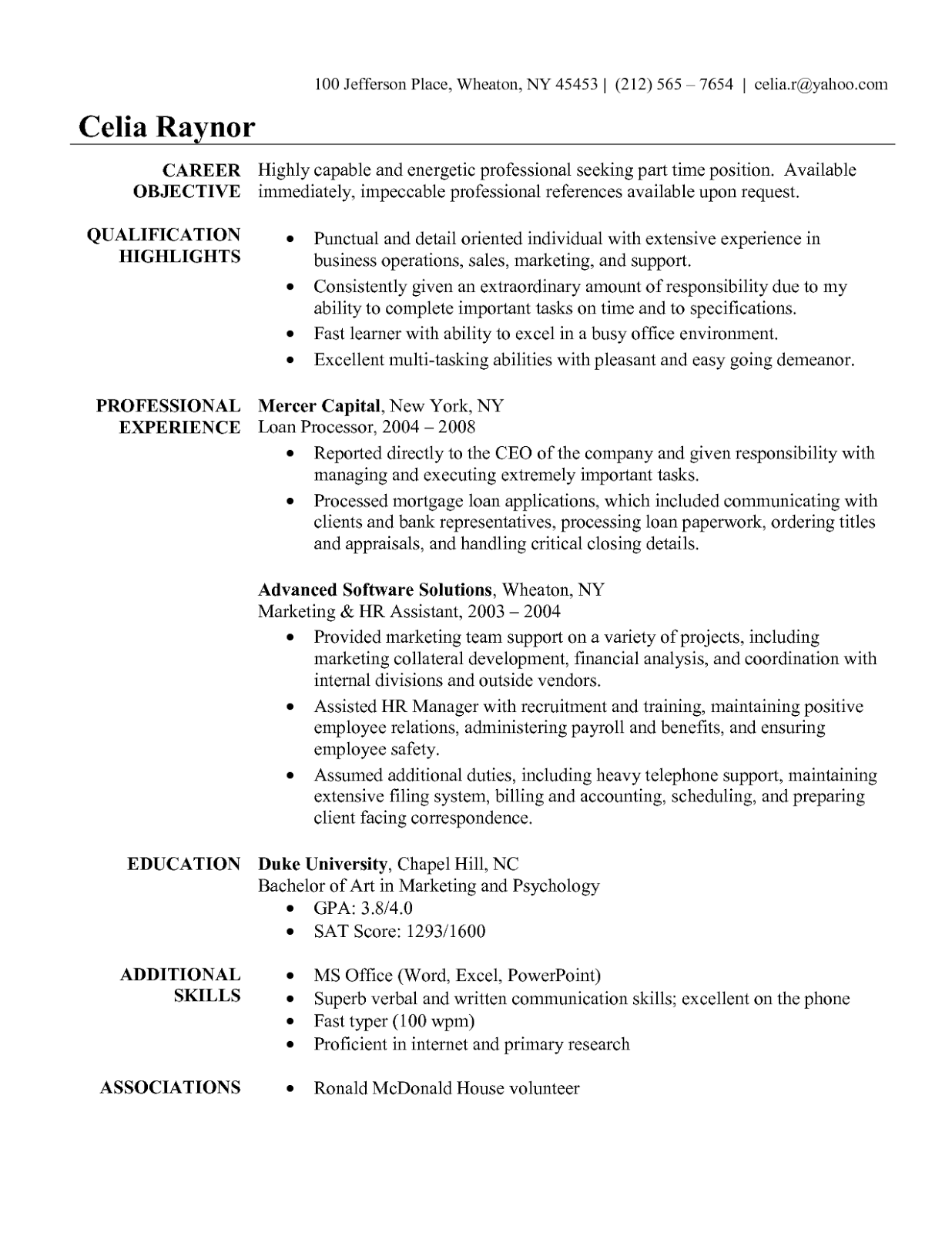 Systems Administrator Resume Examples Sample For Administrative