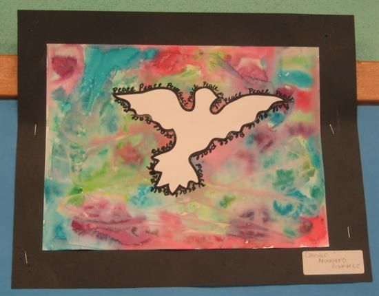 Peace Doves Watercolor Art Project For Kids Remembrance Day Art