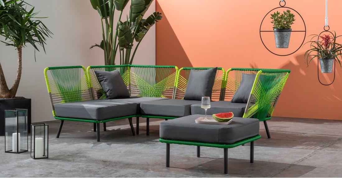Copa Garden Corner Sofa Citrus Green Outdoor Rooms Contemporary Outdoor Outdoor Garden Furniture