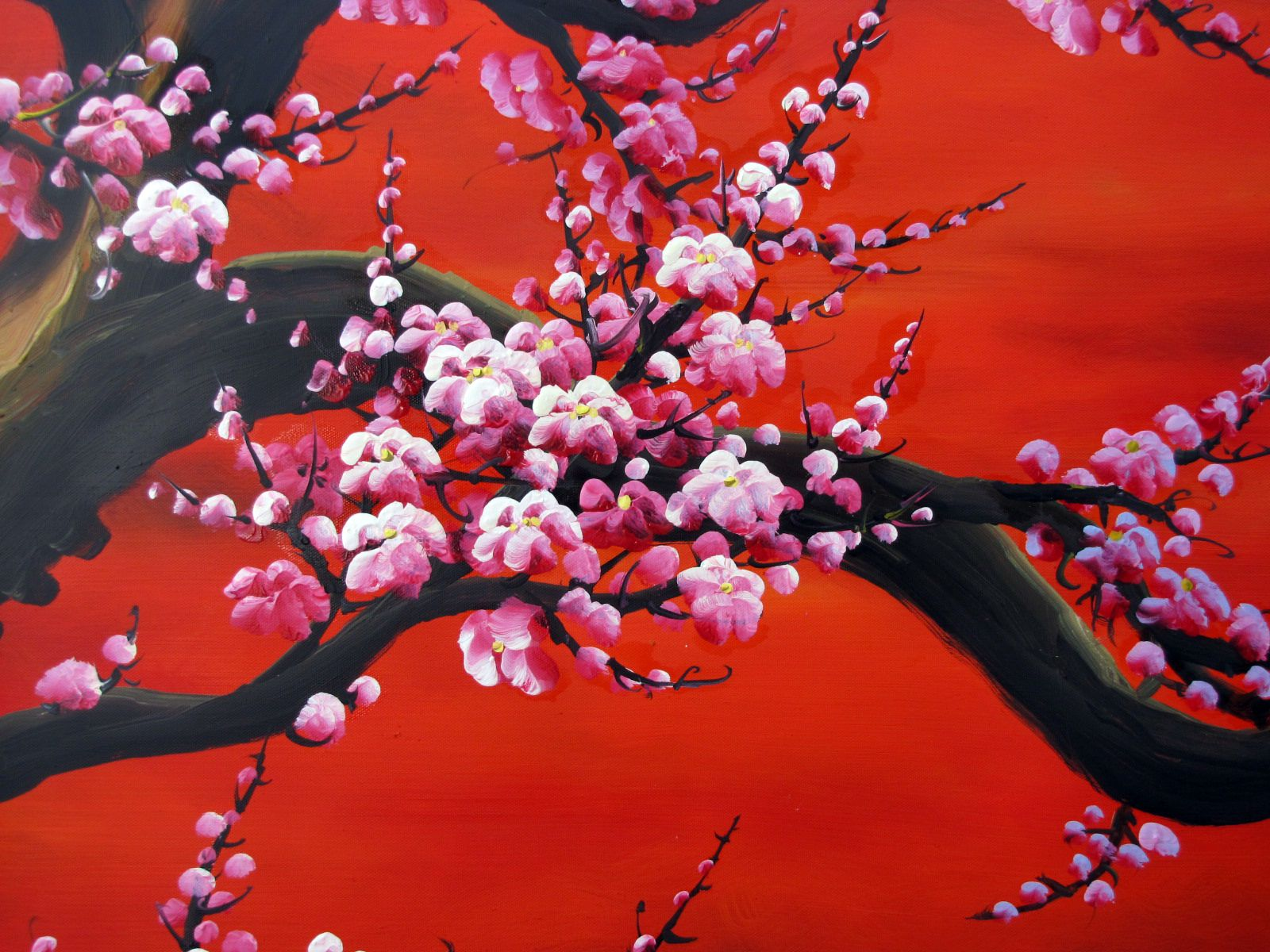 726 cherry blossom painting 2 jpg 1600 1200 cherry for Canvas painting of cherry blossoms