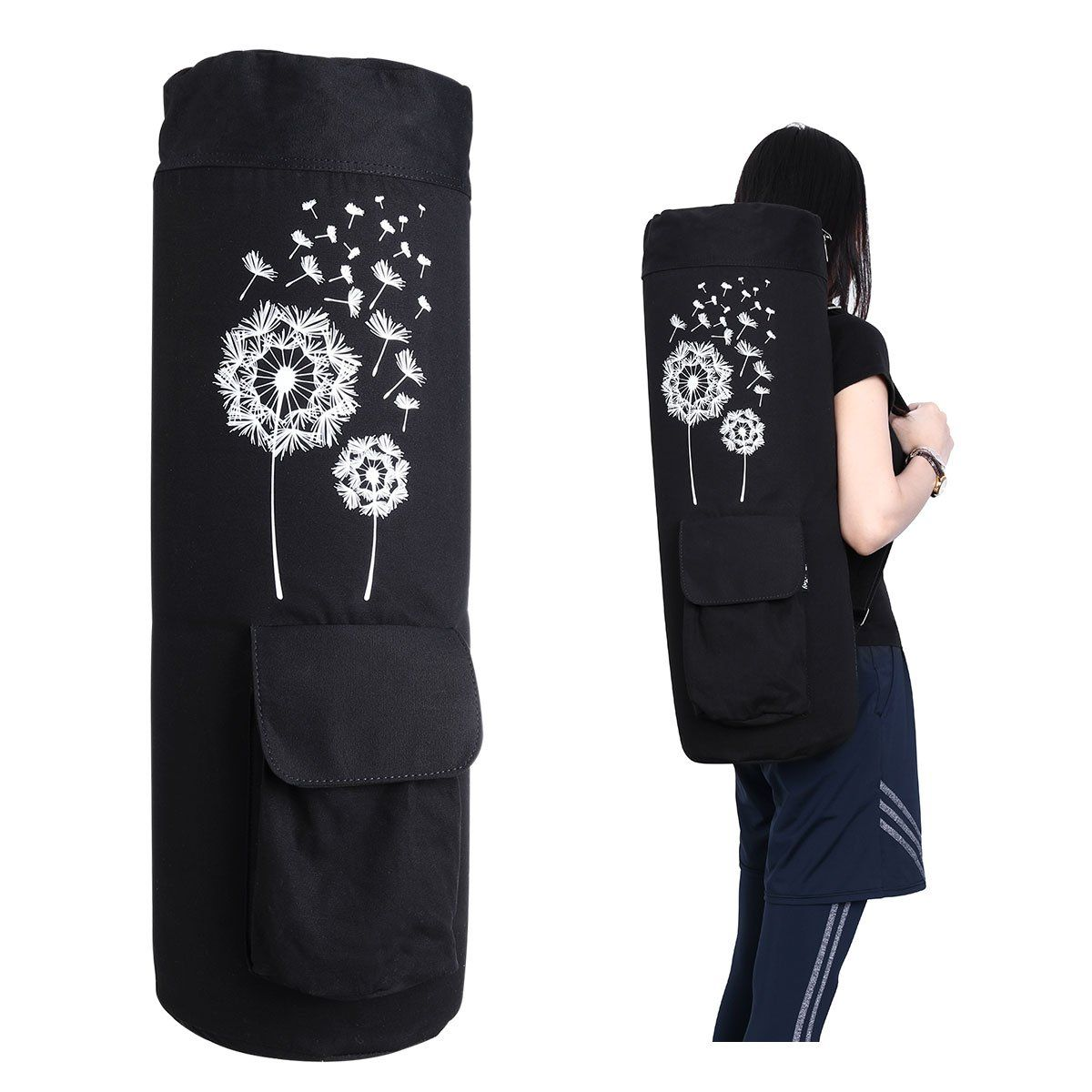 Ibasetoy Large Yoga Mat Bag 25 2 X 8 2 Fits 1 2 Thick Yoga Mats Or 1 4 Yoga Mats And Yoga Towel Black With Images Mat Bag Yoga Mat Bag Large Yoga Mat