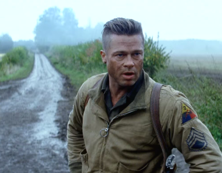 Brad Pitt Fury 2014 Movie Hairstyle Strayhair Brad Pitt Haircut Brad Pitt Fury Brad Pitt Hair