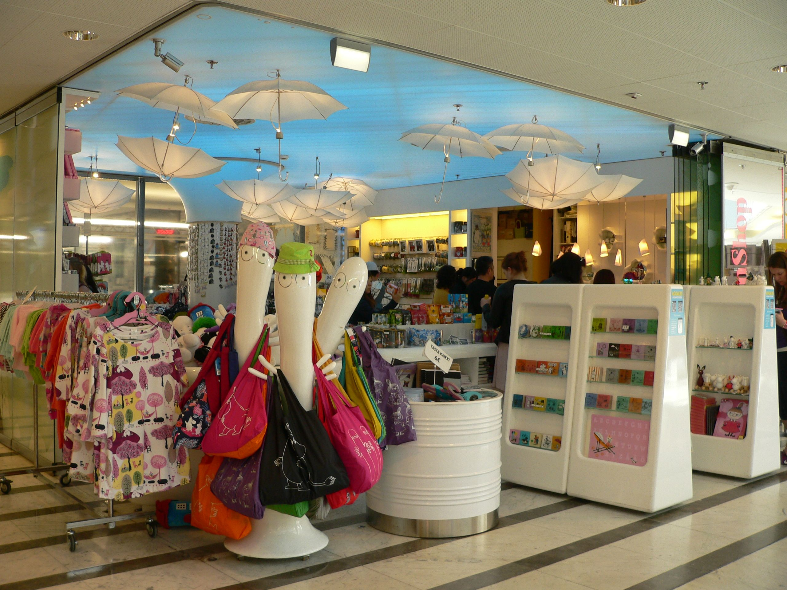 Luv Shopping Einkaufszentrum Moomin Shop At Forum Shopping Center Helsinki All About