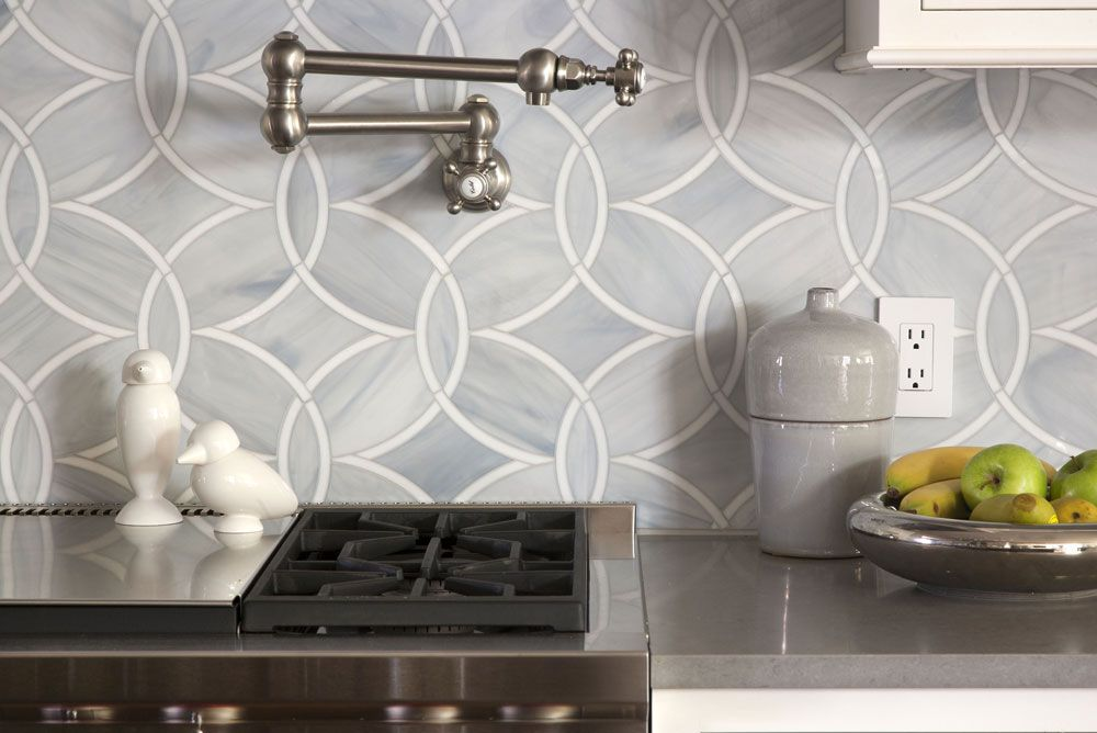 Exquisite kitchen design kitchens ann sacks beau monde glass tiles polly in absolute white and pearl also cherry hills  pinterest