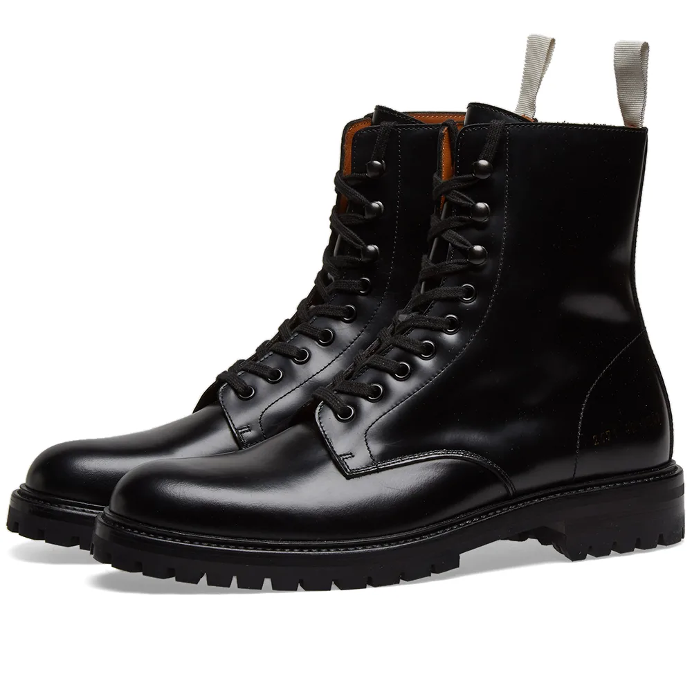 Common Projects Lug Sole Combat Boot