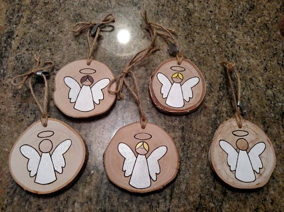 Angel Ornament - Wood Burned Ornaments / Gift Tags - can be PERSONALIZED