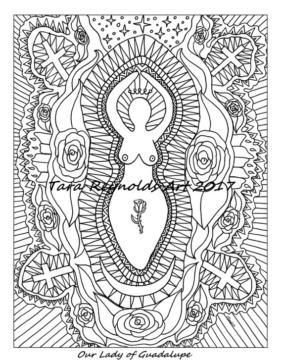 Coloring Pages for Adults Our Lady of Guadalupe Catholic Saint ...