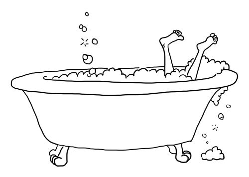 Sketches Of A Old Fashioned Bathtub Old Fashioned Bathtub
