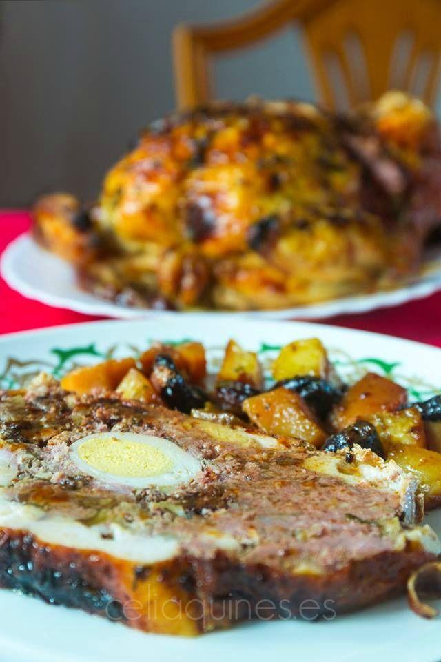 """CELIAQUINES - Recetas de una mami """"gluten free"""": Pollo relleno para Navidad"""