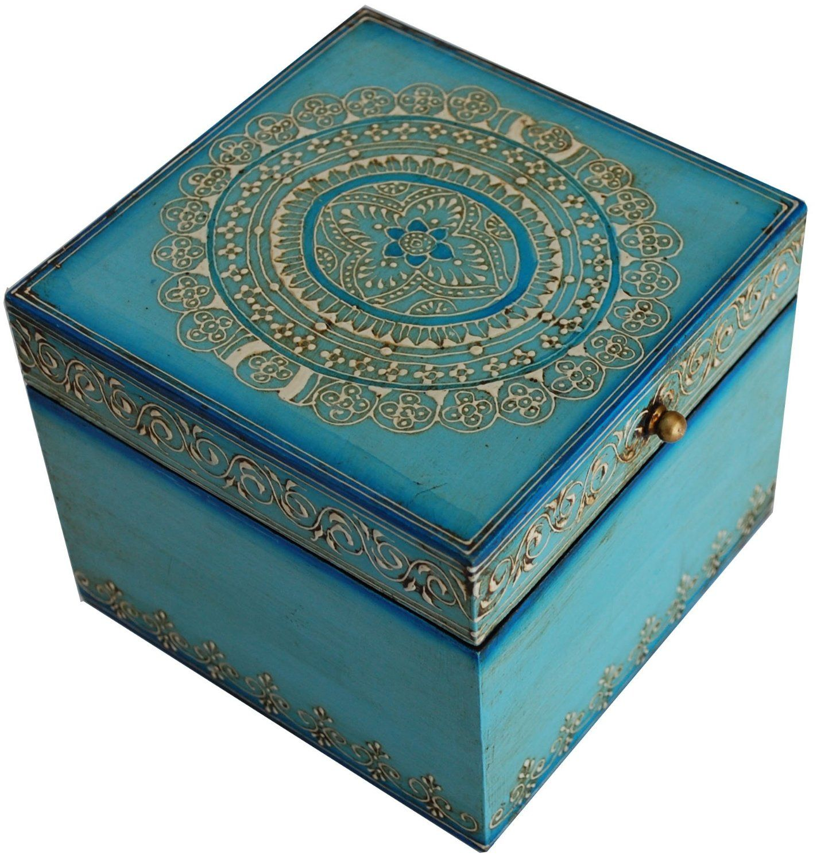 Amazoncom 6 Square Jewelry Box SouvNear Decorative Keepsake