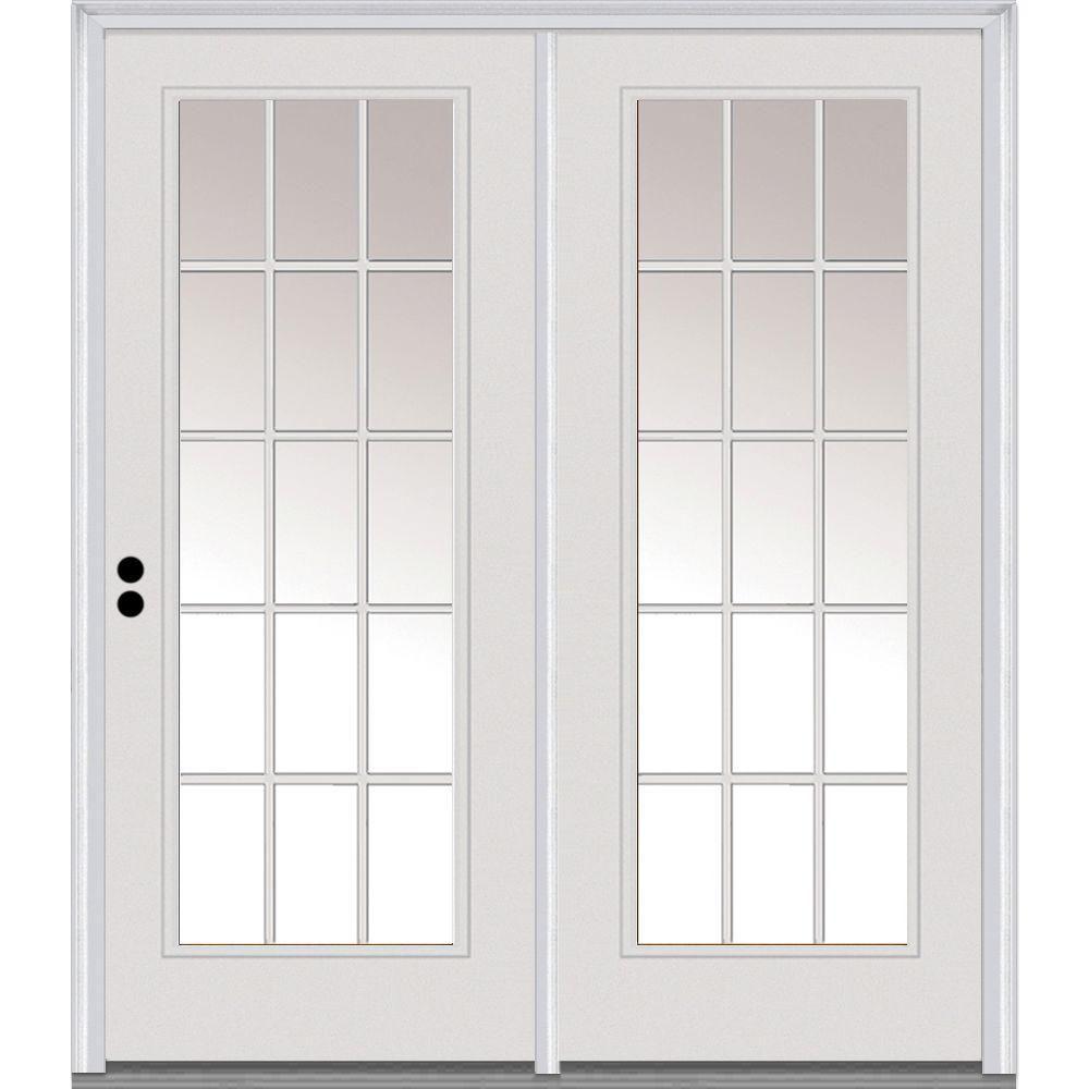 Milliken Millwork Classic Clear Glass 68 In X 80 In Majestic Steel Prehung Right Hand Inswing 15 Lite Patio Door My Remodel Exterior Patio Doors Patio D