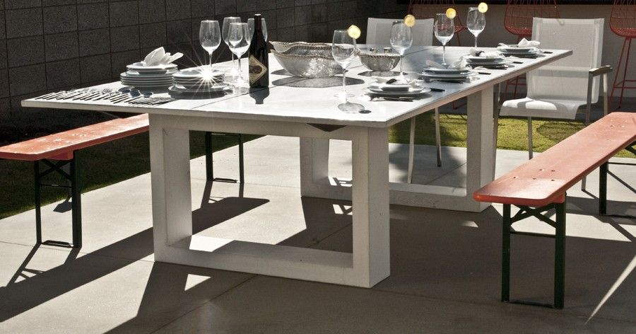 Outdoor Concrete Ping Pong Dining Table