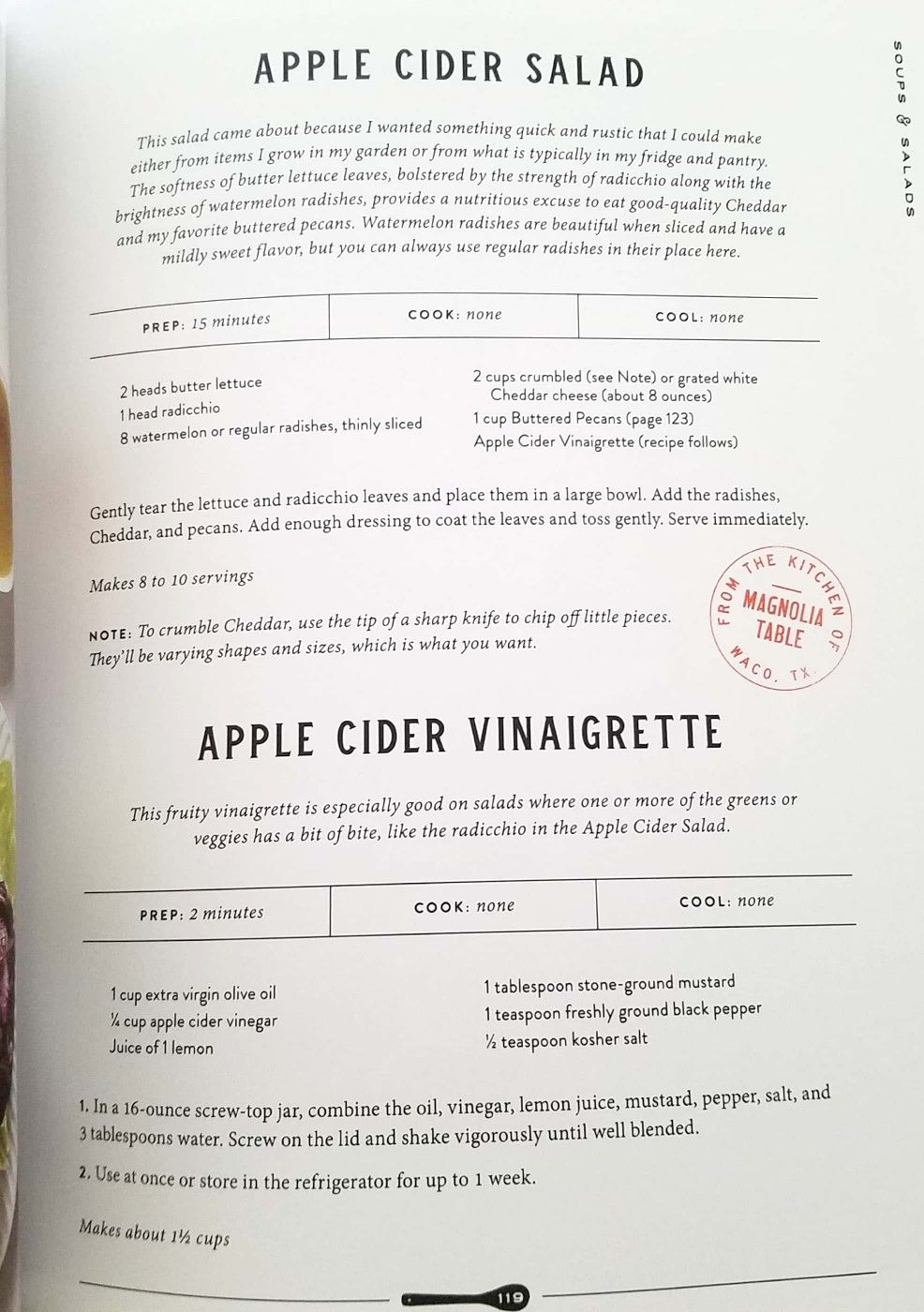 Joanna Gaines S Recipe Apple Cider Vinaigrette Homemade Salad Dressing Vintage Recipes Salad Dressing Recipes