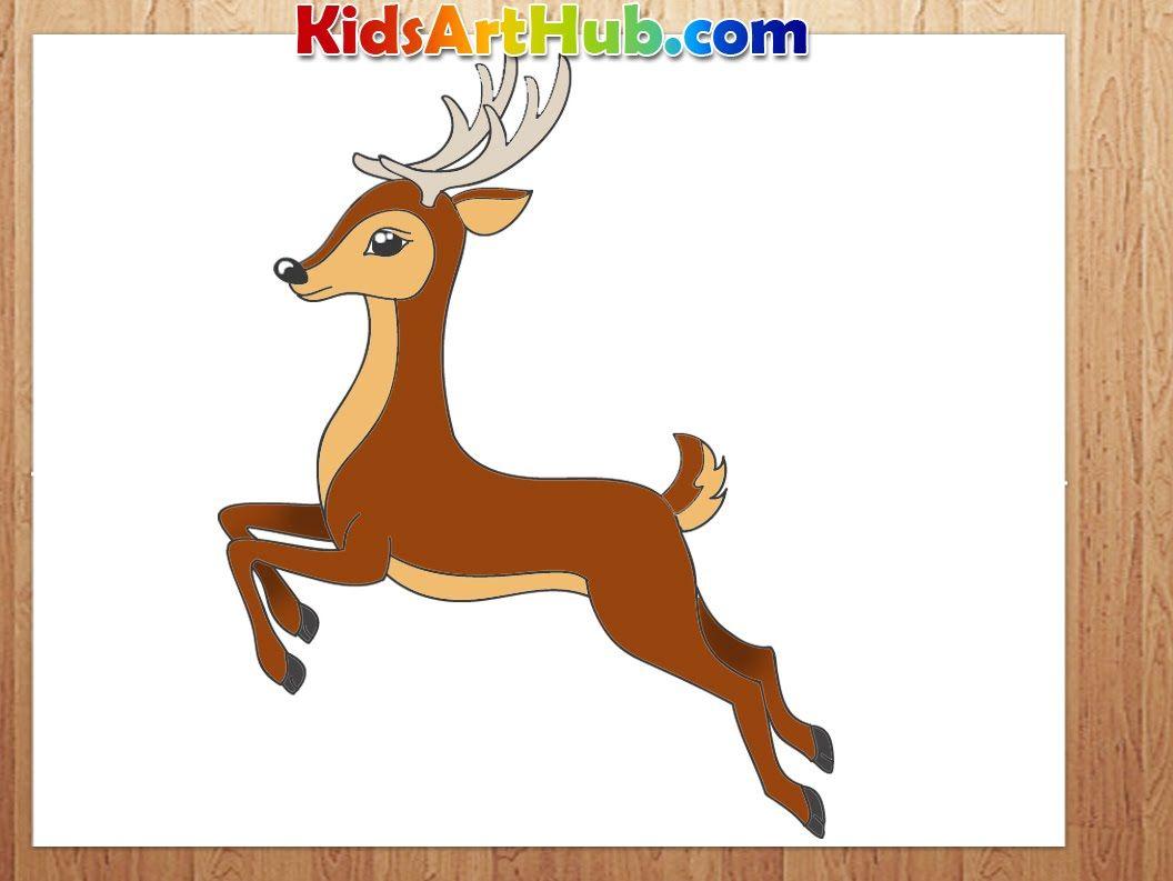 How To Draw Deer Deer Drawing Art For Kids Hub Drawings