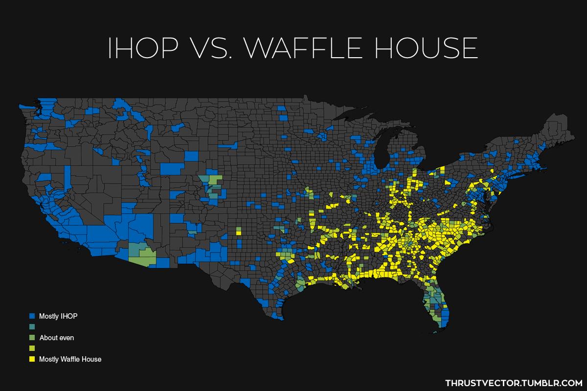 Waffle House Map ihop vs. waffle house   Maps: United States   Waffle house  Waffle House Map