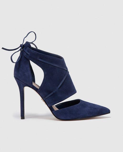 d16fc4c7b02 Zapatos de salón de mujer Guess en ante con cierre de lazo