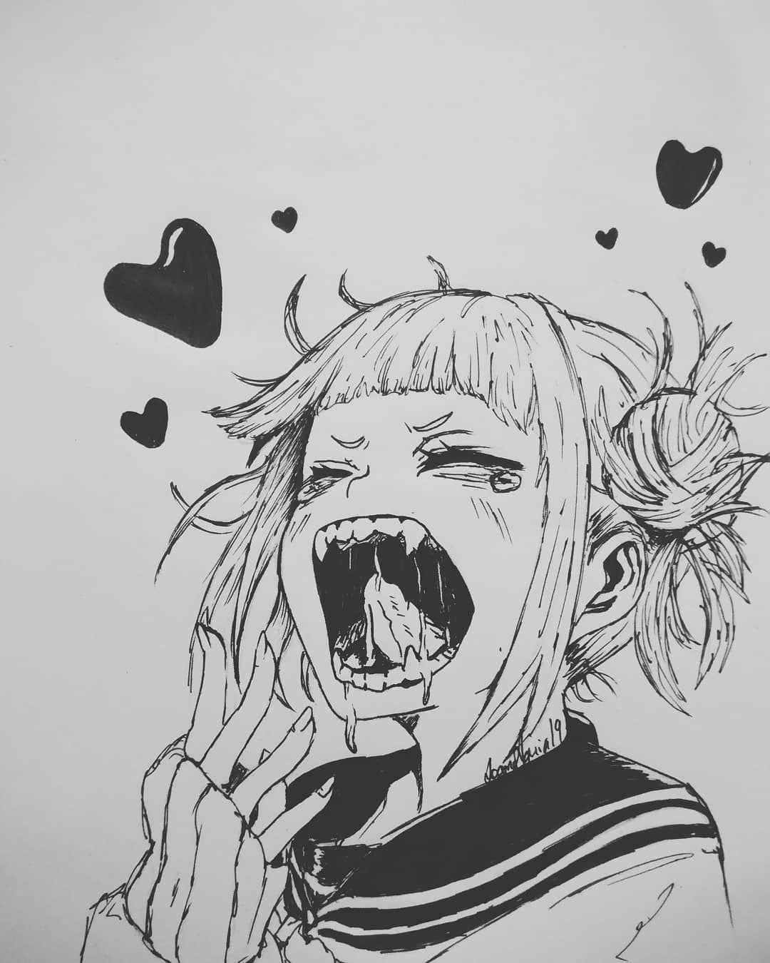 Toga Anime Bokunoheroacademia Myheroacademia Toga Art Himikotoga Heart Mha Bnha Toga Anime Anime Drawings Anime Anime Drawings Sketches