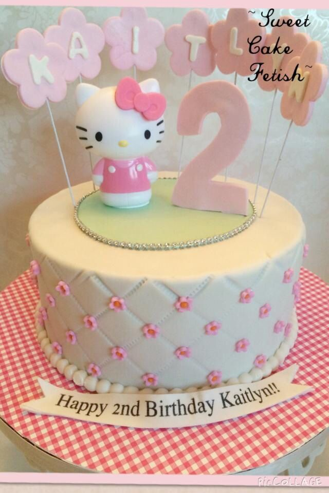 Hello Kitty Cake Hellokitty Cake Birthday Hello Kitty Fondant Birthday Cake Kids Themed Cakes