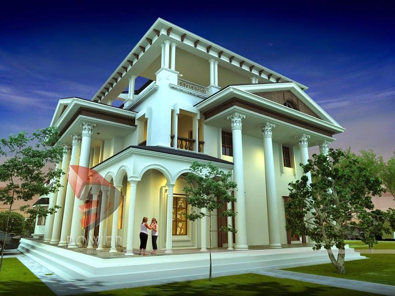 Luxury bungalow house plans india beautiful house Pictures of exterior home designs in india