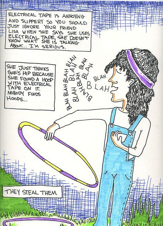 How to Hula Hoop: A Comic Strip
