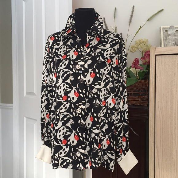 74a7364ad17420 Vintage..Escada by Margaretha Ley 100% silk blouse Designer ...Escada