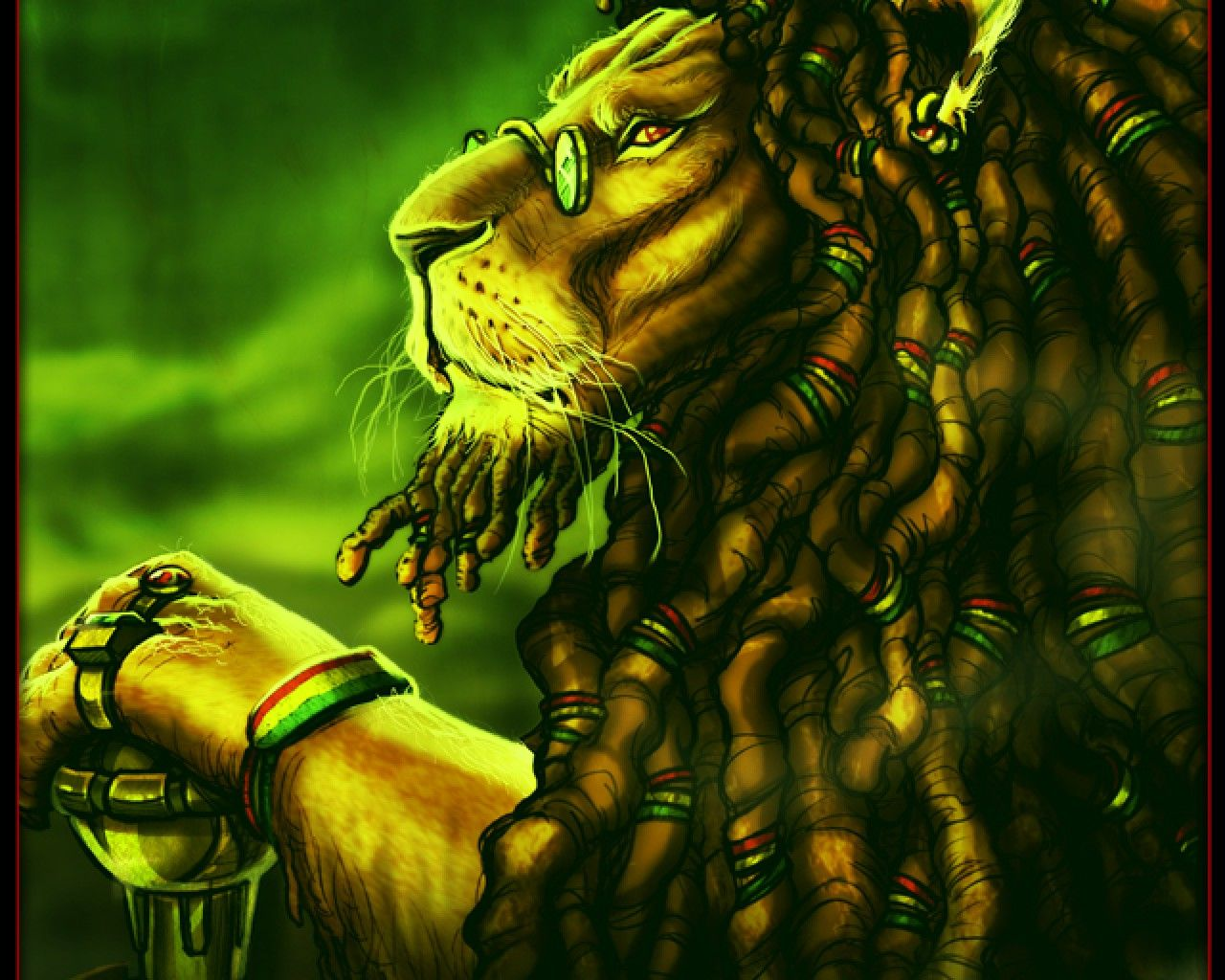 Rasta Lion Wallpaper