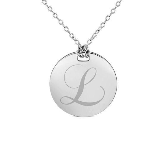 Zales Simulated Birthstone Monogram Necklace in Sterling Silver (1 Stone and 3 Initials) OgTyOoM7r