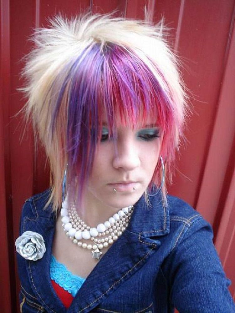 emo hairstyles girls with short