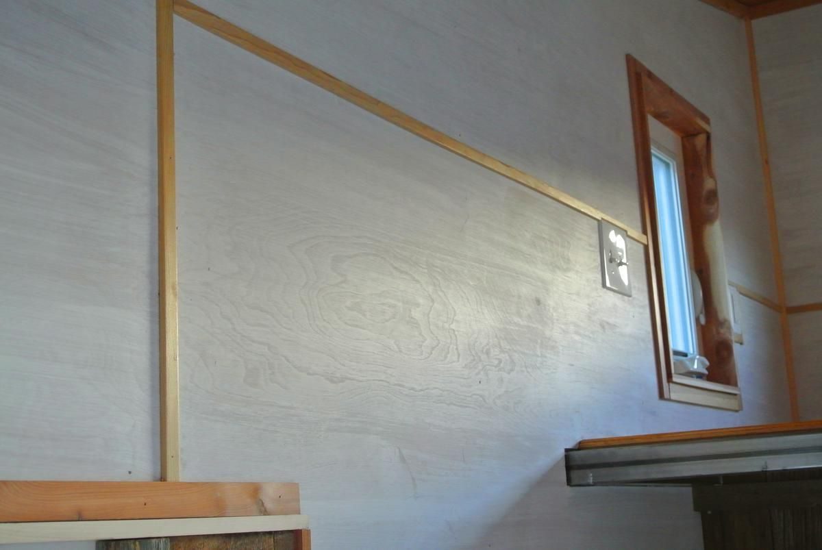 Painted Plywood Walls With Wood Trim At Seams Boulder By Rocky Mountain Tiny Houses