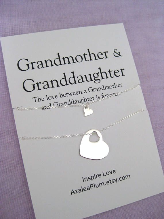 Grandmother Granddaughter 60th Birthday Gift For GRANDDAUGHTER 70th Grandma Jewelry Necklace