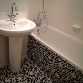 Encaustic Moroccan Tiles In Bathroom London Floors Pinterest