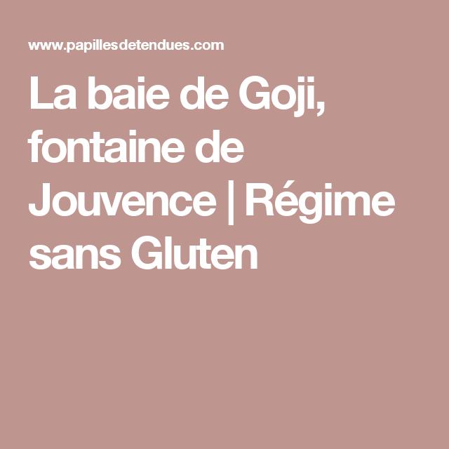 La baie de Goji, fontaine de Jouvence | Régime sans Gluten