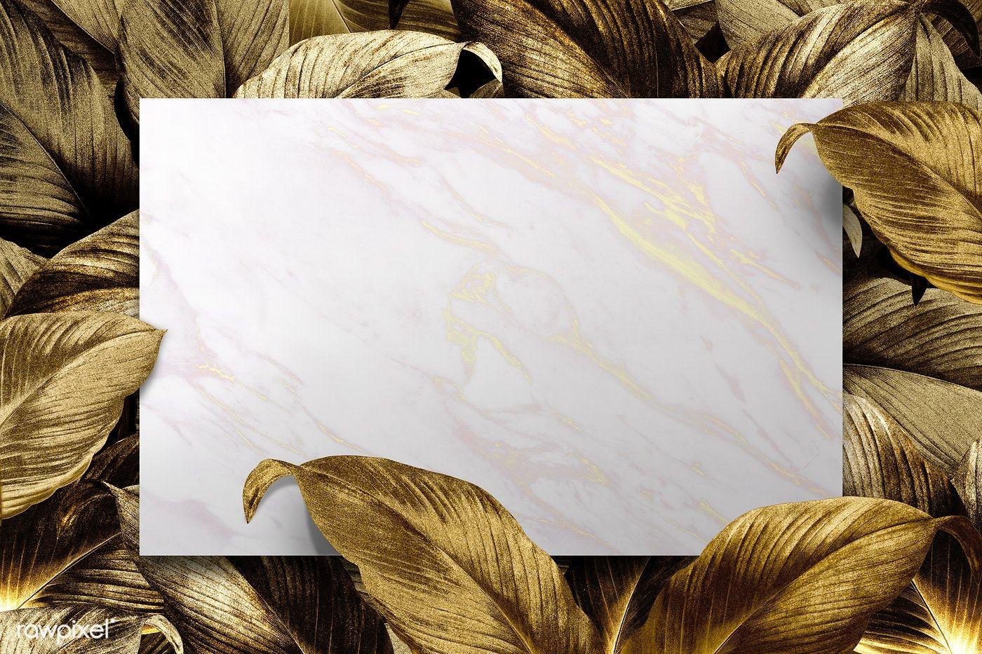 Download Premium Illustration Of White Marble Patterned Paper On Tropical Marble Pattern Leaf Background Flower Illustration