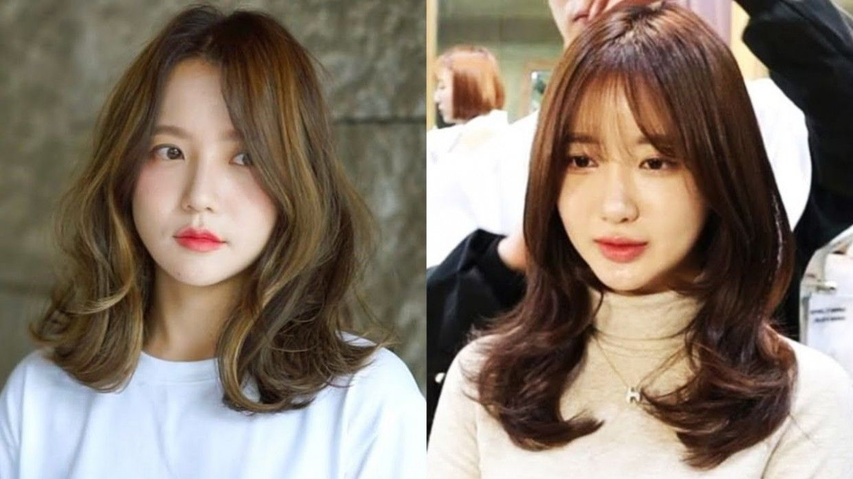 Korean Medium Hairstyle With Bangs Korean Medium Hairstyle With