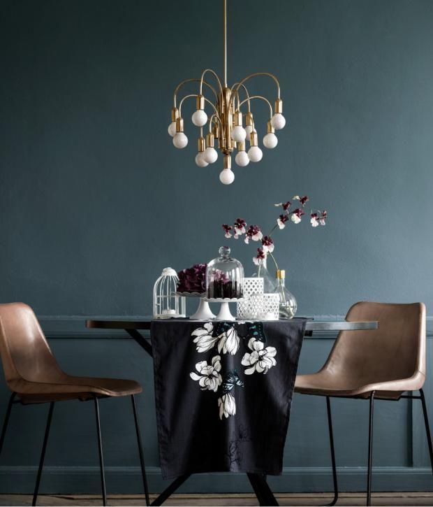 Petrol als Wandfarbe u2013 so wird sie kombiniert Petrol, Naturtöne - farben im interieur stilvolle ambiente