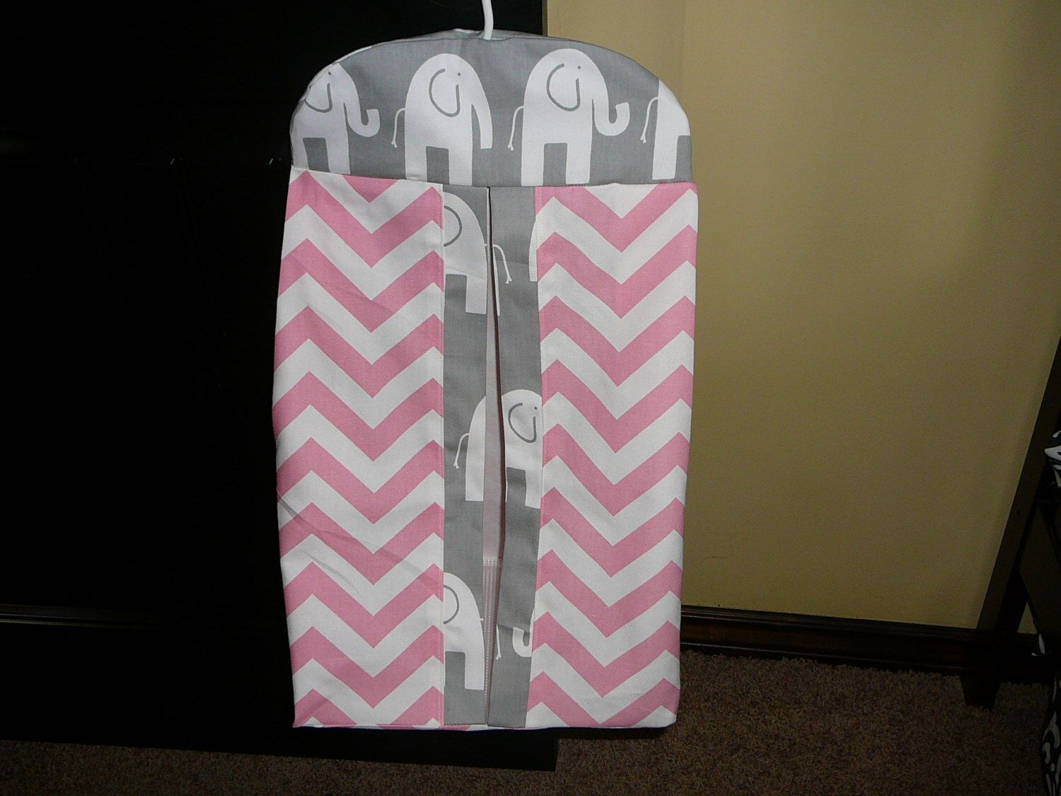 A personal favorite from my Etsy shop https://www.etsy.com/listing/229681322/diaper-stacker-in-zigzagele