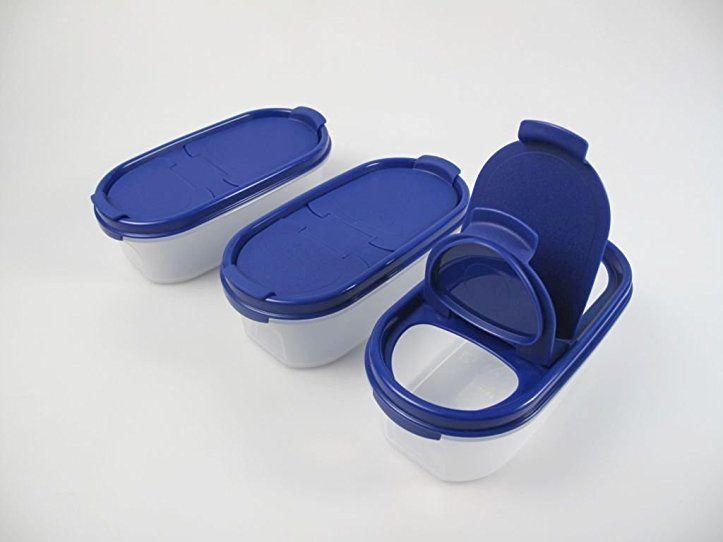 TUPPERWARE Eidgenossen 500 ml blau mit Schütte (3) Trockenvorrat - dunkelblaue kche