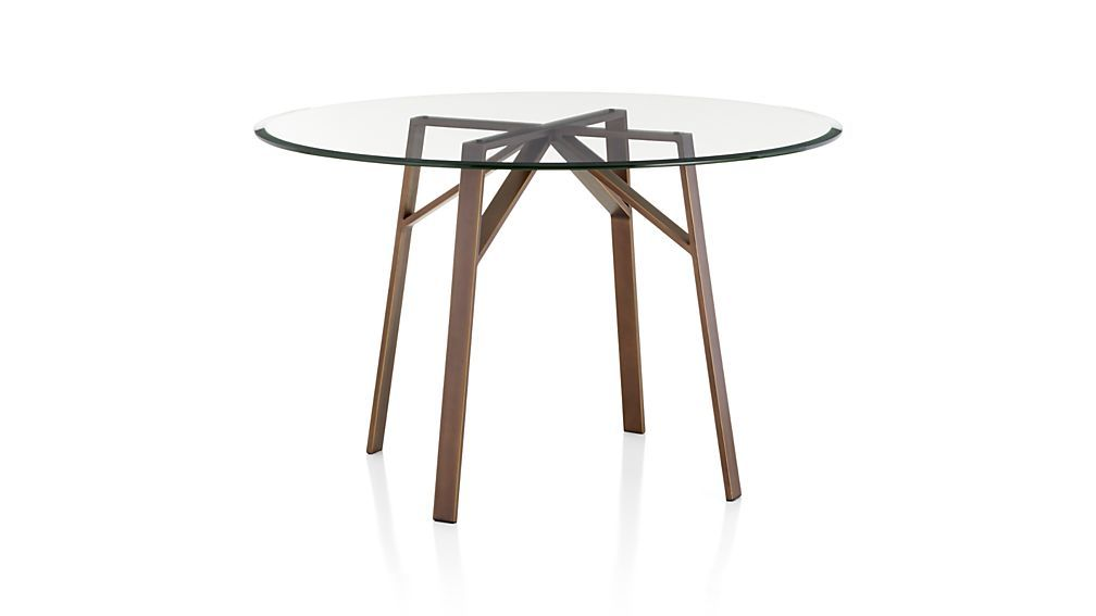 Belden Round Dining Table With 42 Glass Top Round Dining Table