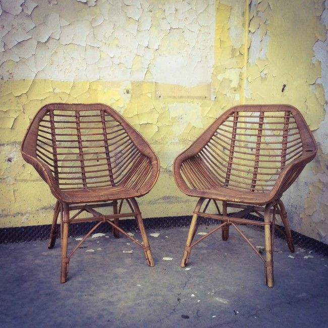 fauteuil en rotin rotin et osier bon tat vintage. Black Bedroom Furniture Sets. Home Design Ideas